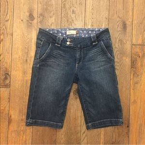 PAIGE Bermuda Denim Jean Sweetzer Shorts 27